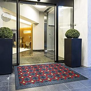 YXX- Large Waterproof Outdoor Doormats for Back Door, Supermarket Entrance & Garage Entry - Heavy Duty, Non Slip, Catches ...