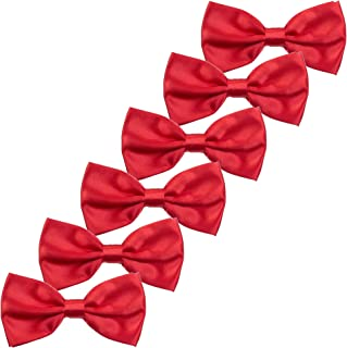 Boys Children Formal Bow Ties - 6 Pack of Solid Color Adjustable Pre Tied Bowties