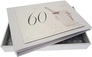 WHITE COTTON CARDS 60th Birthday, Mini Photo Album, Champagne Bucket