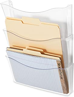 Rubbermaid Unbreakable Expandable Three-Pocket Wall File Set, Clear (65976)