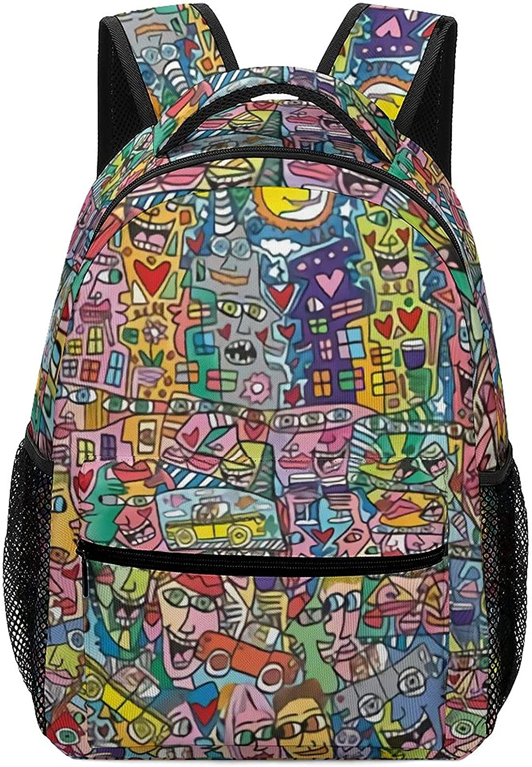 cool Store Limited time sale graffiti pattern backpack printe Oxford cartoon doodle