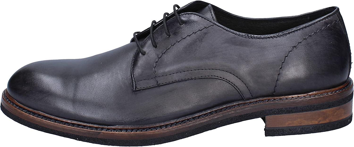 +2 MADE IN ITALY Oxfords-shoes Mens Leather Grey