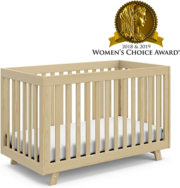 Stork Craft Storkcraft Beckett 3 In 1 Convertible Crib Fixed Side Crib Solid Pine Wood Product Construction Converts To Toddler Bed Day Bed Or Full Bed Mattress Not Included Natural