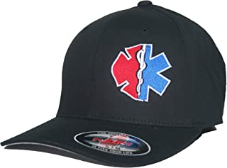 Maltese Cross Star of Life EMT Hat Paramedic Firefighter Cap Flexfit