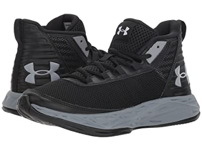 Under Armour Kids UA BGS Jet 2018 (Big Kid) (Black/Black/Steel) Boys Shoes