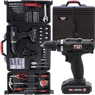 MYLEK 18V Cordless Drill Tool Set Driver DIY Electric Screwdriver Combi Drill Kit, 1500mAh Li-Ion Battery- Variable Speed,...