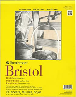 """Strathmore Bristol Smooth Paper Pad 11""""X14""""-20 Sheets"""