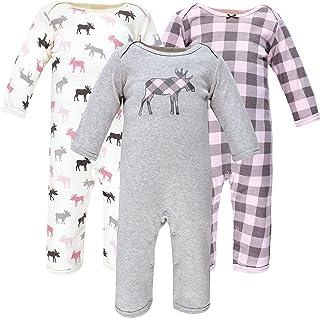 Hudson Baby Kombinezon dziecięcy Uniseks - niemowlęta Hudson Baby Unisex Baby Cotton Coveralls, Pink Moose