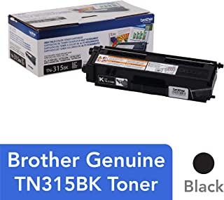 Brother Genuine High Yield Toner Cartridge, TN315BK, Replacement Black Toner, Page Yield Up To 6,000 Pages, TN315