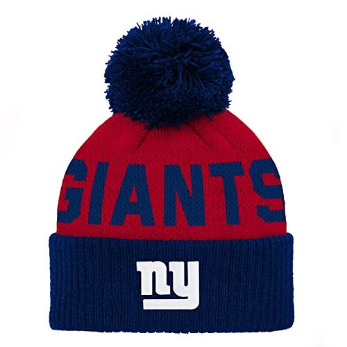 5911e056b71 NFL Unisex-Baby Jacquard Cuffed Knit Hat with Pom