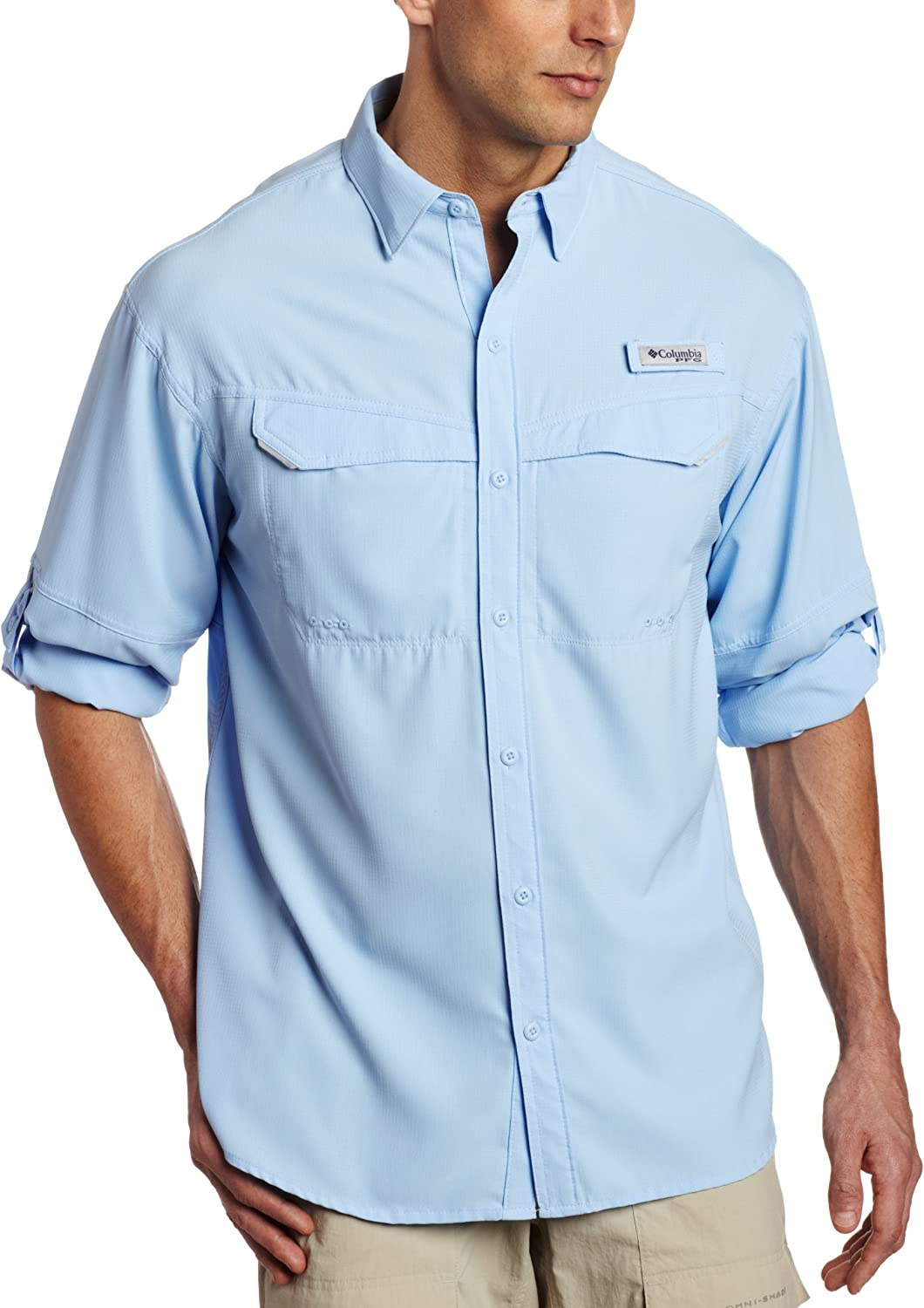Columbia quality assurance mens Low Industry No. 1 Drag Shirt Long-sleeve Offshore