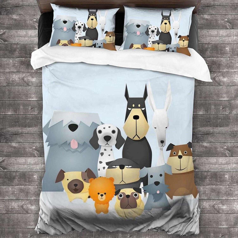 Cartoon Dog Printing 3-Piece Bedding Ranking TOP7 Set 86