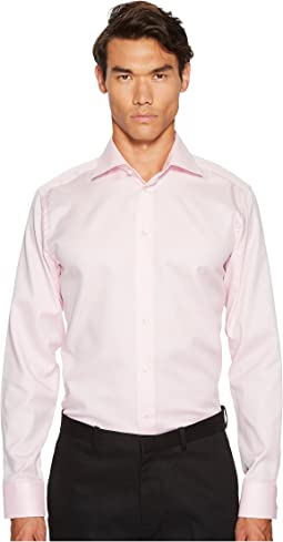 Slim Fit Mini Herringbone Shirt