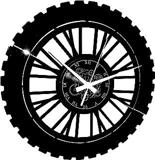 Instant Karma Clocks Wall Clock Enduro Motocross Motorcycle Racing Rider Extreme, Black, Vinyl