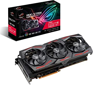 ASUS ROG Strix AMD Radeon RX 5600 XT OC Edition Gaming Graphics Card (PCIe 4.0, 6GB, GDDR6 Memory, HDMI, DisplayPort, Axial-tech Fan Design, Metal Backplate (ROG-STRIX-RX5600XT-O6G-GAMING)