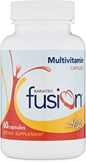 Bariatric Fusion Bariatric Multivitamin Capsules for Post Bariatric Surgery Patients Including Gastric Bypass and Sleeve Gastrectomy, 2 Capsules Daily, 60 Count, 1 Month Supply