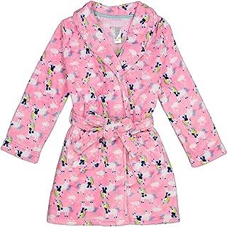 Image of Cozy Pink Fleece Cute Unicorn Robe for Girls - Size 4-16
