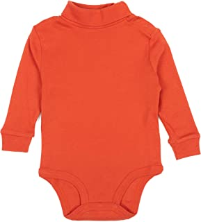 Leveret Long Sleeve Baby Boys Girls Bodysuit Turtleneck 100% Cotton (Size 6 Months-2 Toddler)