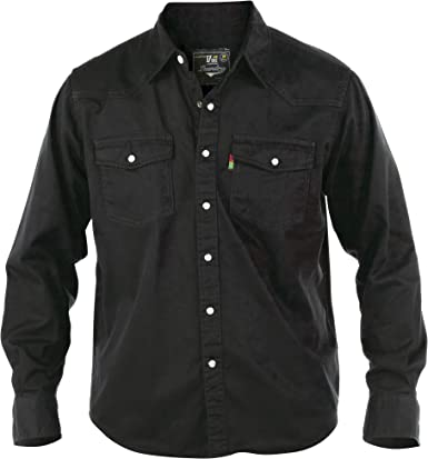 Duke - Camisa de Botones Vaquera Modelo Western para Hombre