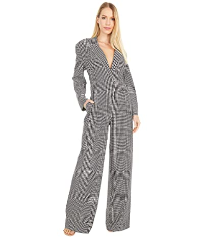 KAMALIKULTURE by Norma Kamali Single Breasted Straight Leg Jumpsuit (Glenn Plaid) Women