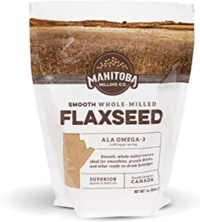 Manitoba Milling Finest Whole Milled Smooth Golden Flaxseed Flax Seed Powder, 1 Lb. (16 oz) | Fiber | Protein | ALA Omega-...