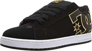 DC Men's Court Graffik SE Skate Shoe, Black/Gold, 11 D D US