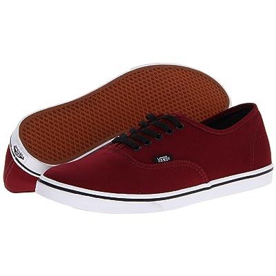 Vans Authentictm Lo Pro (Tawny Port/True White) Skate Shoes