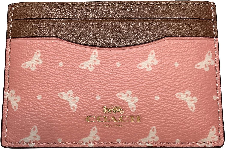 Coach PVC Butterfly Dot Card Chalk Case New life Ranking TOP17 F59787 Blush