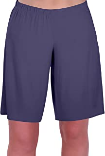 Eye Catch Star Women's Jersey Relaxed Comfort Elasticated Flexi Stretch Shorts Plus Sizes