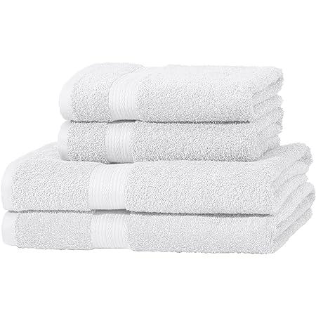 2 serviettes de bain et 2 petites serviettes r/ésistants /à la d/écoloration Gris Basics Lot de 2 draps de bain