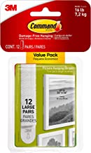 Command Foto & Frame Hangende Strips Value Pack, Groot, Wit, 12-paar (17206-12, (17206-12ES)