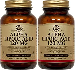 Solgar, Alpha Lipoic Acid, 120 mg, 60 Veggie Caps - 2pc