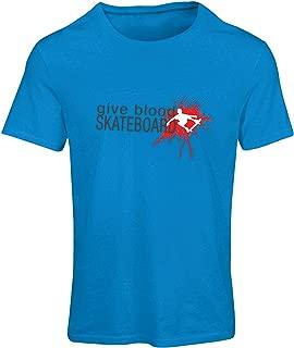 lepni.me T Shirts for Women Give Blood Skateboard ! - Funny Skateboarding Quotes, Pro Skater