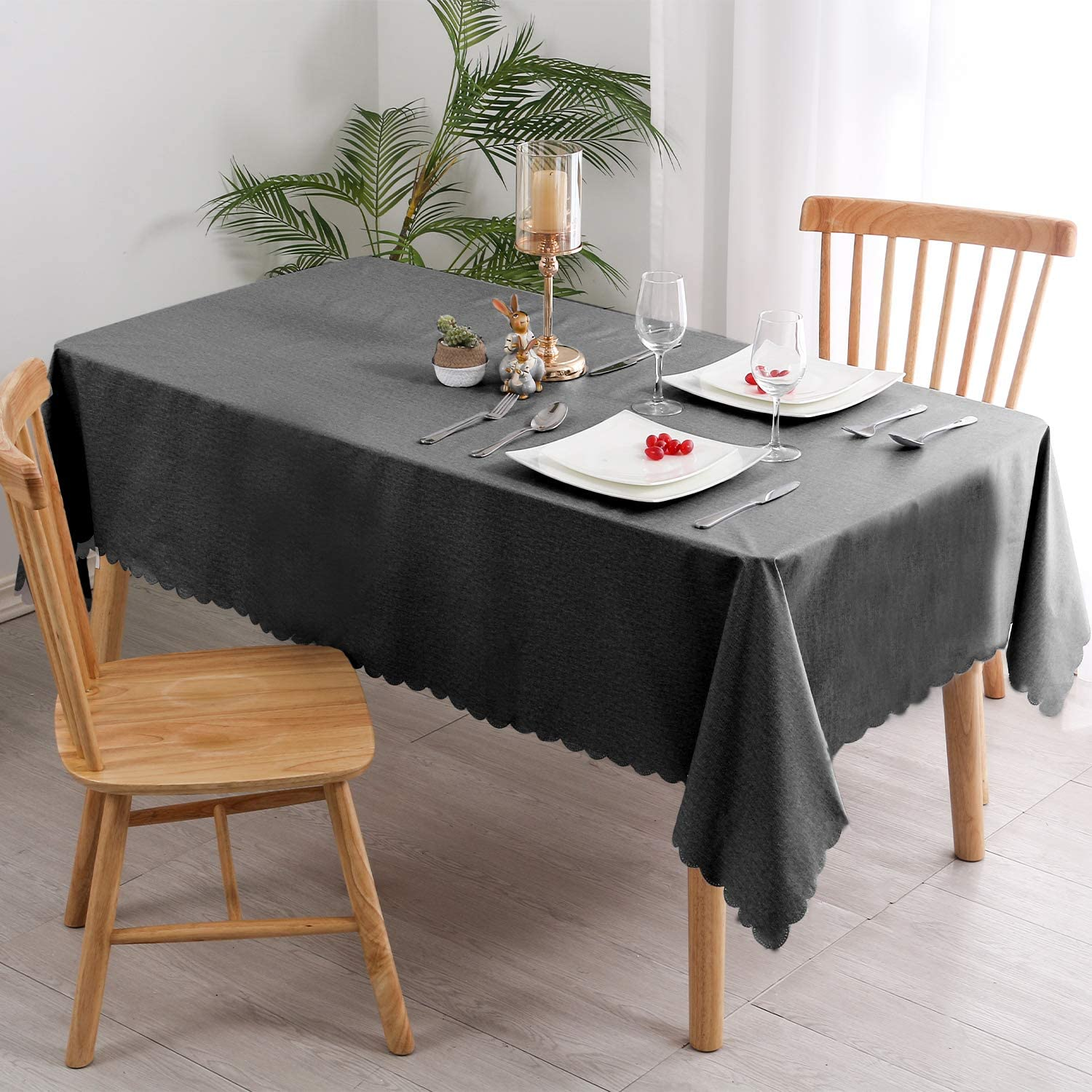 54 x 54 Inch 100/% Waterproof Oilproof Stain Resistant Wipeable Transparant Vinyl Table Cloth Protector Hiasan Clear Plastic Tablecloth Square