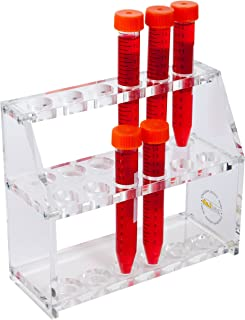 For 25 mm-30 mm Tubes Bel-Art Products 18860-2630 Stack Rack Test Tube Polypropylene 24 Places