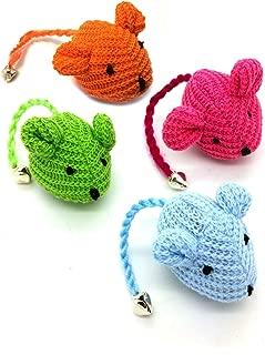 Crochet Mouse Cat Toy - 4 Pk