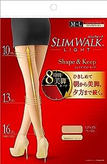 スリムウォーク (SLIM WALK) シェイプアンドキープ(Shape&Keep) パンティストッキング ミディアムベージュ M~Lサイズ(Panty stocking,Medium Beige,ML) 着圧 ストッキング