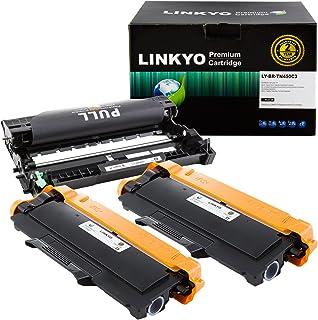 LINKYO Compatible Toner Cartridge and Drum Unit Set Replacement for Brother TN450 TN-450 DR420 DR-420 (2 Toner Cartridges, 1 Drum Unit)