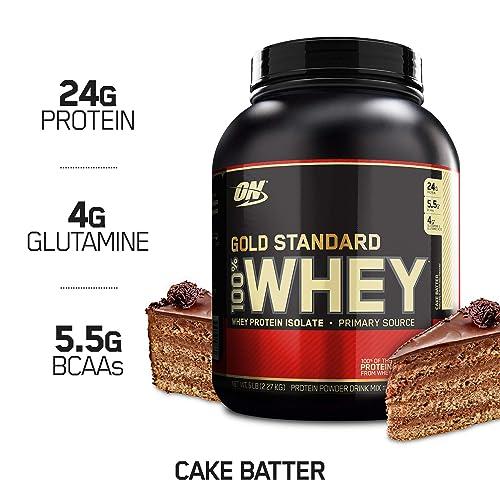 Optimum Nutrition Gold Standard 100 Whey Protein Powder Cake Batter 5 Pound