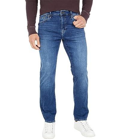 Mavi Jeans Zach Straight Leg in Mid Blue Organic Move (Mid Blue Organic Move) Men