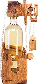 Weinpuzzle aus edlem Holz, Flaschenpuzzle, Flaschentresor, F