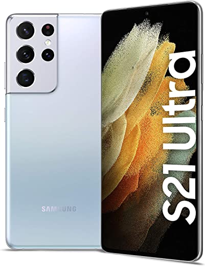 جوال سامسونج جالكسي اس 21 الترا، ثنائي الشريحة - ذاكرة تخزين داخلية 512 GB، ذاكرة رام 16 GB، الجيل الخامس، لون فضي فانتوم (اصدار المملكة العربية السعودية)