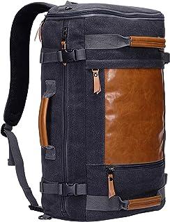 Men Canvas Backpack Large Travel Backpack Laptop Bag Hiking Causal Daypack Rucksack