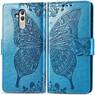 FanTing Case for Samsung Galaxy A2 Core,Flower Butterfly Print Mobile Wallet Flip Cover with Mobile Phone Holder and Card ...