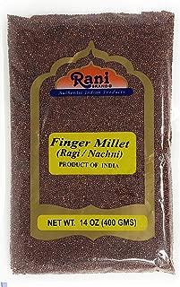 Rani Ragi Finger Millet (Eleusine Coracana) Whole Ancient Grain Seeds 400g (14oz) ~ All Natural | Gluten Free Ingredients | NON-GMO | Vegan | Indian Origin | Nachni / Ragula / Nagli / Keppai