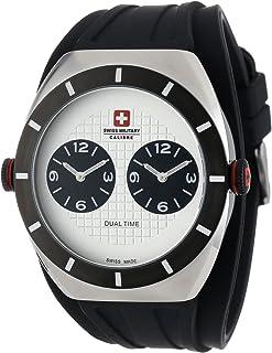 Swiss Military - 06-4C1-04-001R - Reloj analógico de Cuarzo para Hombre con Correa de Caucho, Color Negro