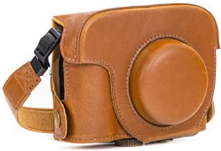 MegaGear MG185 Ever Ready Protective Leather Case for Canon PowerShot G16 Camera Light Brown