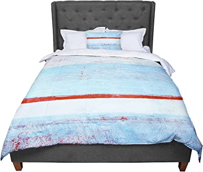 104 X 88 Cal King Comforter KESS InHouse CarolLynn Tice Stripes Blue White King