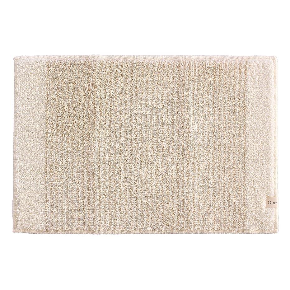 ピクニックピン文明化するオカ(OKA) 浴室足ふきマット ベージュ 約40cm×60cm Onn(オン) 吸水 速乾