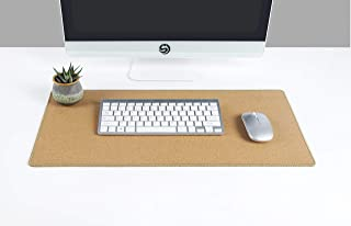 YSAGi Multifunctional Office Writing Cork Desk Pad, Waterproof & Slipproof Desk Protector Mat for Office/Home (Cork)